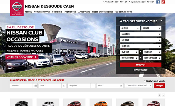 site Nissan - by Delphine Tran
